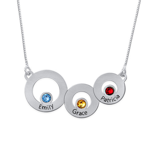 Classic Circles Necklace In Silver
