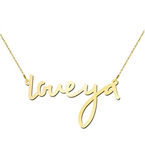 Small Classic Name Necklace in 18k Gold Plated