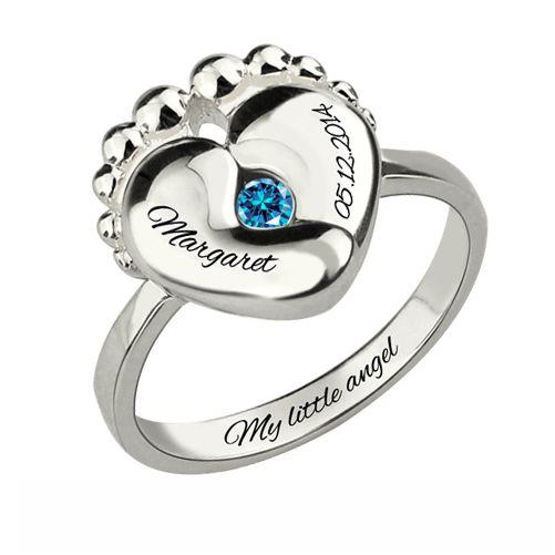 Birthstone Ring For New Mom