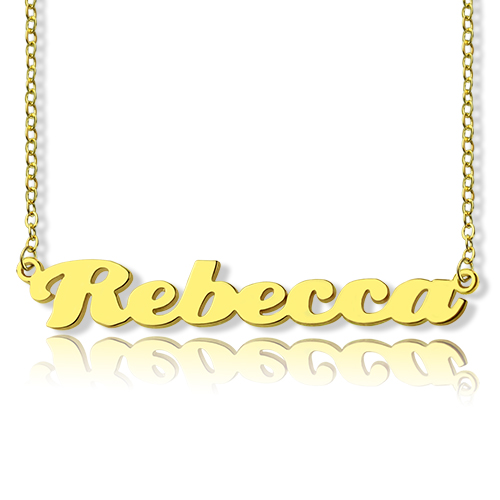 Personalized Gold Plated Silver Necklace