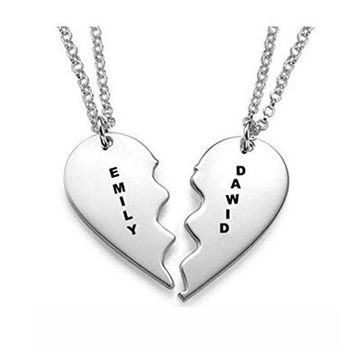 Breakable Heart Name Necklace Sterling Silver