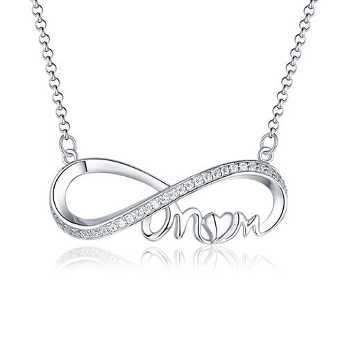 Custom Infinity Birthstone Necklace For Mother