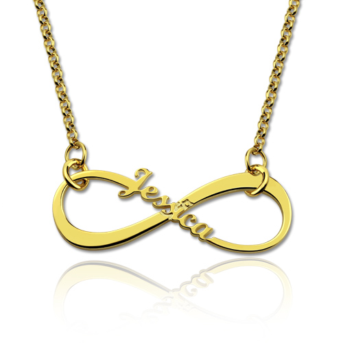 Personalized Single Name Infinity Necklace