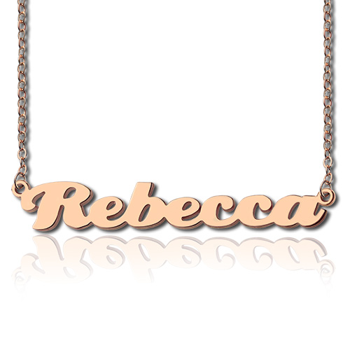 Personalized Rose Gold Nameplate Necklace
