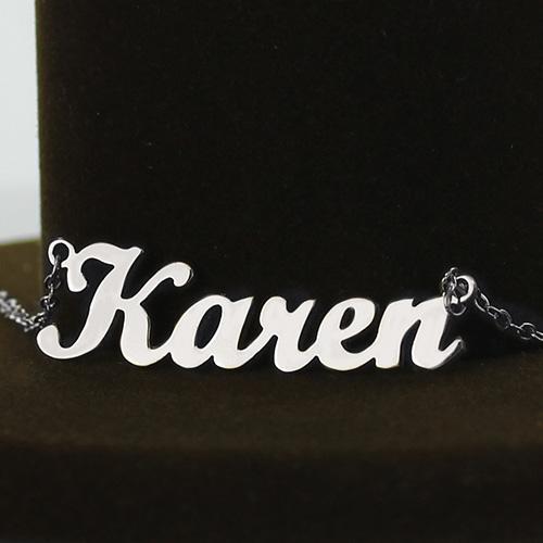 Silver Karen Style Name Necklace