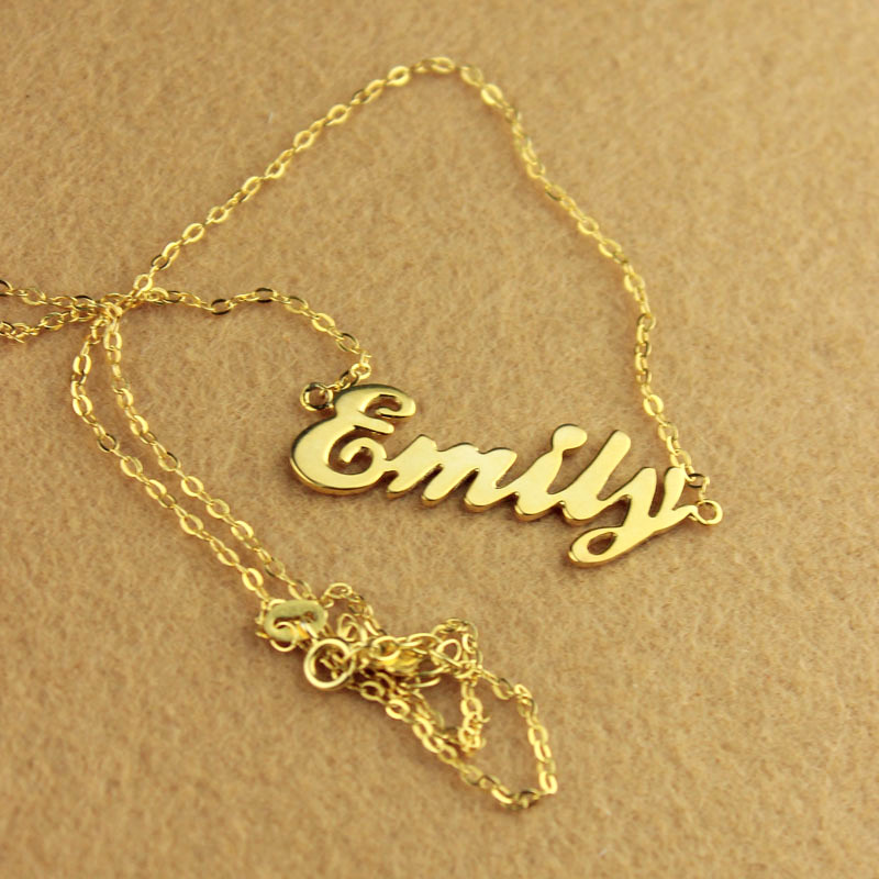 Name Necklace 18K Gold Plated