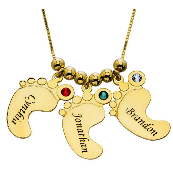 Mother Pendant Baby Feet Necklace