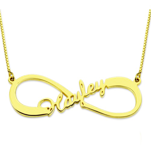 Infinity Name Necklace 18K Gold Plated