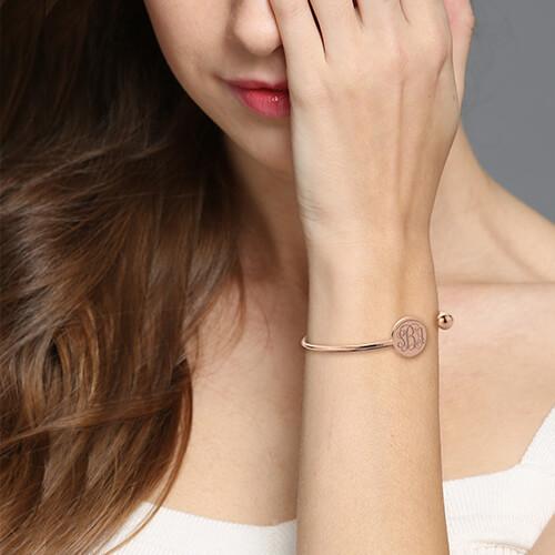 Disc Monogram Bangle Bracelet
