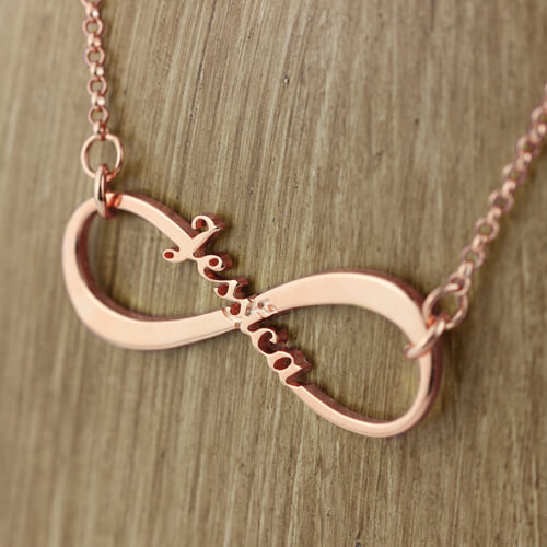Personalized Name Infinity Necklace