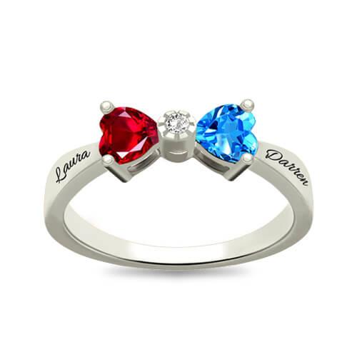 Custom Heart Ring Sterling Silver