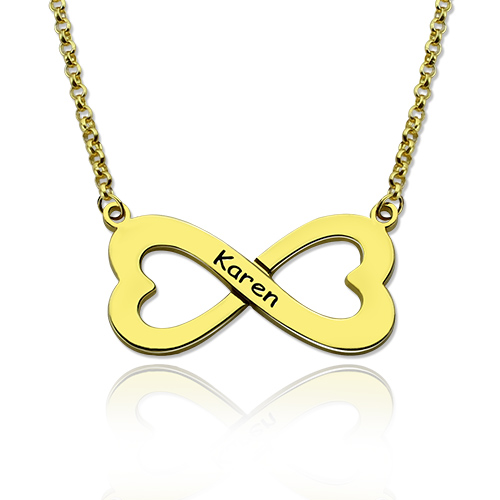 Infinity Heart-Shaped Name Necklace