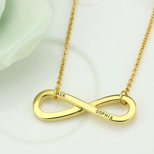 Engraved Symbol Necklace - 18K Gold Plated