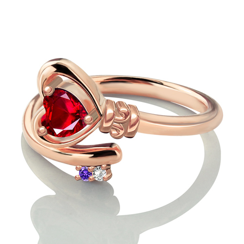 Key to Her Heart Ring In Rose Gold