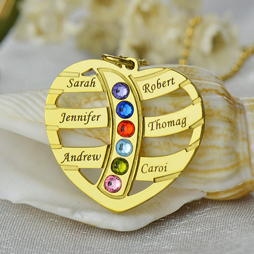 Mothers Necklace - Children Names & Birthstones