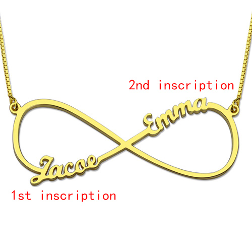 Infinity Necklace Two Names