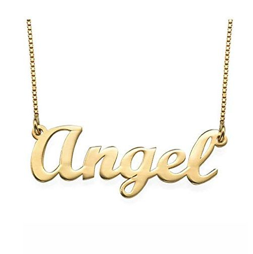 Classic Style Gold 18k Name Necklace