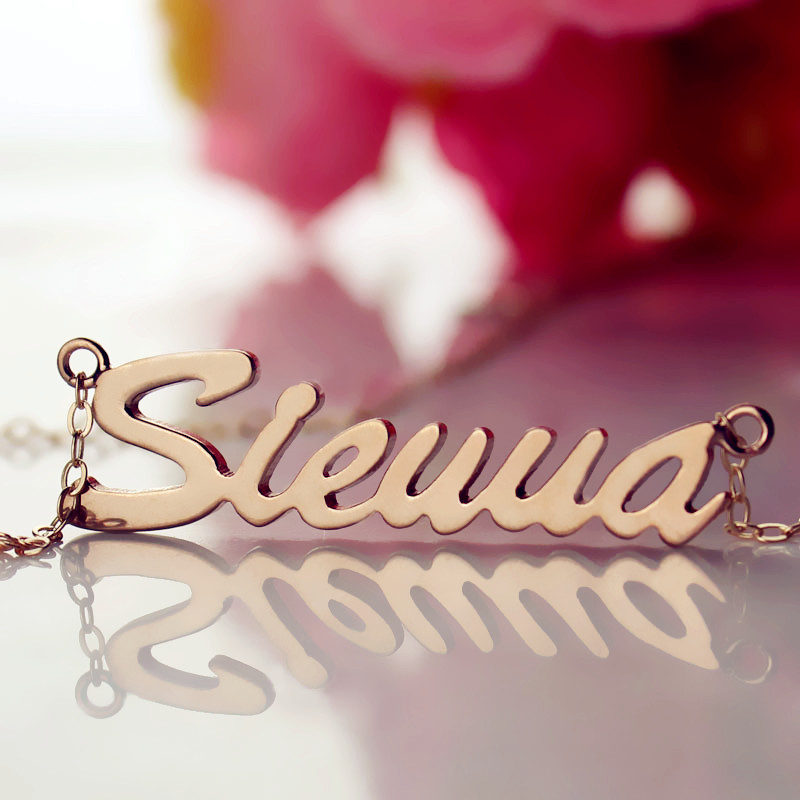 Rose Gold Sienna Name Necklace