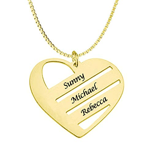 Classic Mothers Heart Necklace 18k Gold Plated