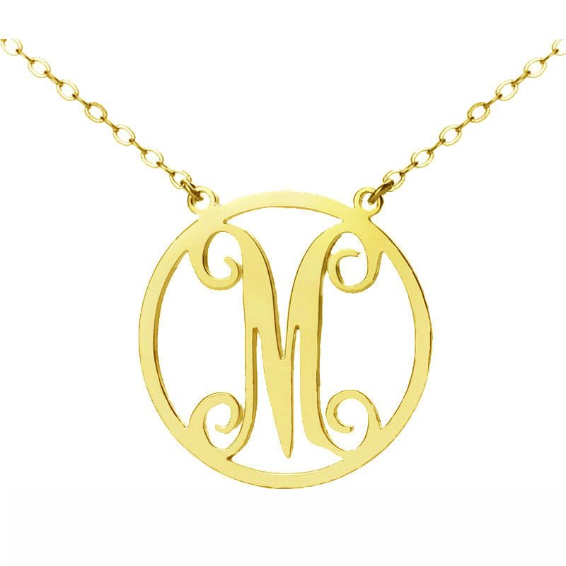 Single Monogram Letter Necklace