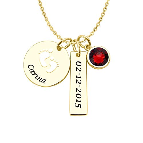 Baby Bar Necklace for Mothers Gold Plated