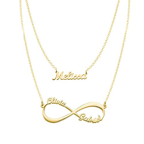 Gold Plated Gift - Infinity and Name Necklaces