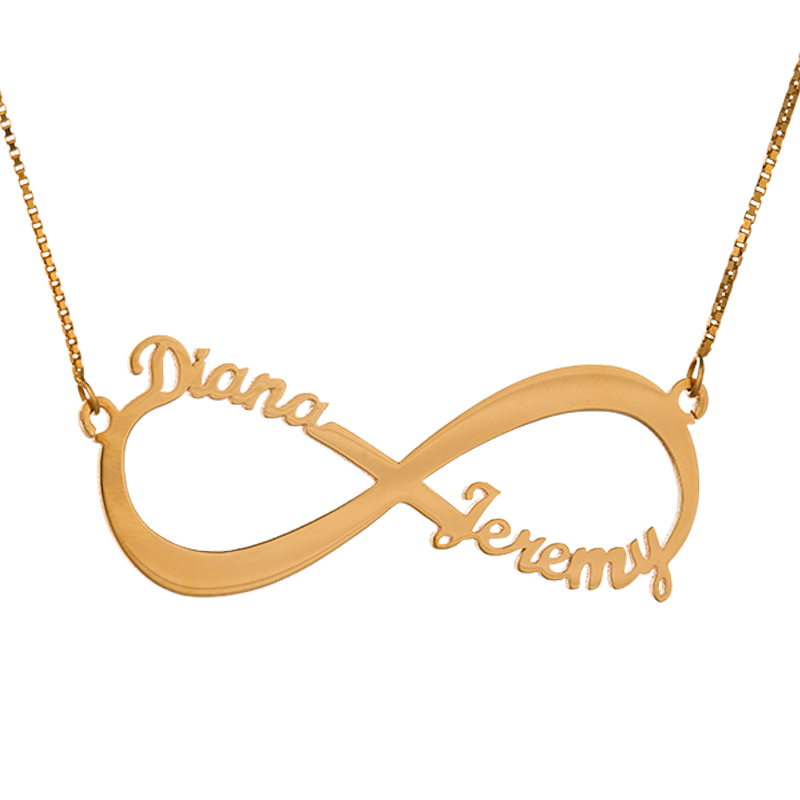 Double Name Infinity - Rose Gold Plated