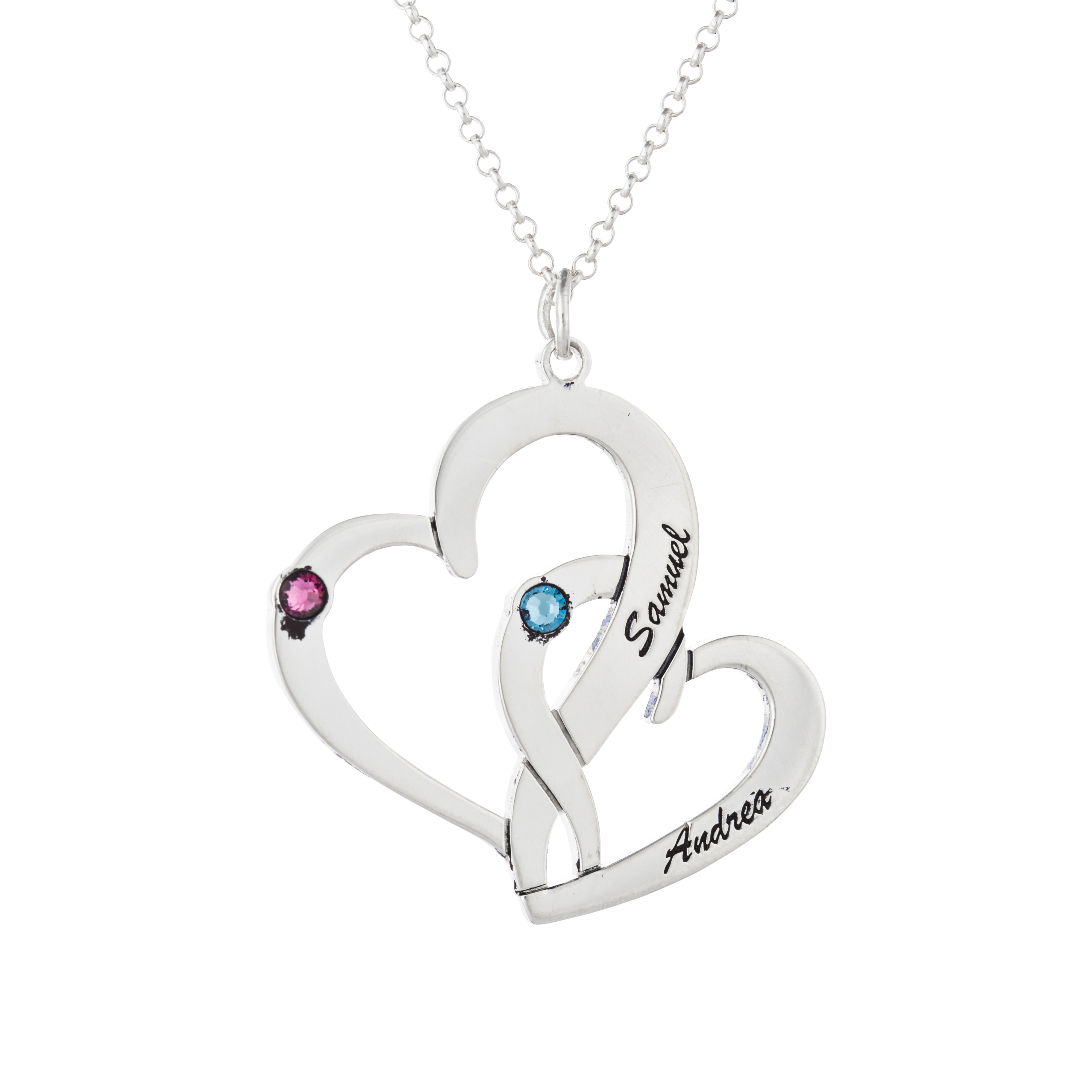 Giftnamenecklace interlocking two hearts necklace interlocking two hearts necklace aloadofball Image collections