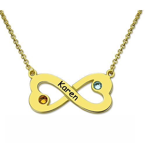 Infinity Heart Necklace - Gold Plated