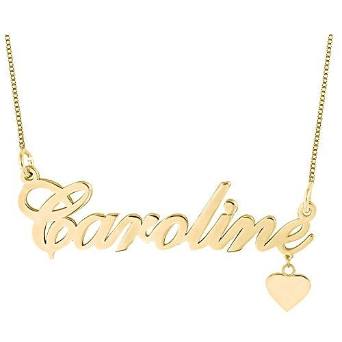 Heart Necklace in 18k Gold Plated Silver