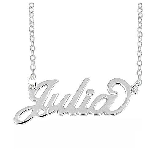 Name Necklace 925 Sterling Silver Custom Made Pendant Name