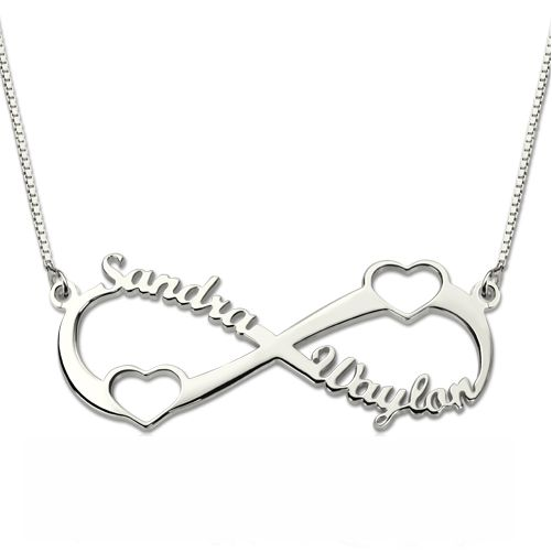 Infinity Two Hearts Necklace
