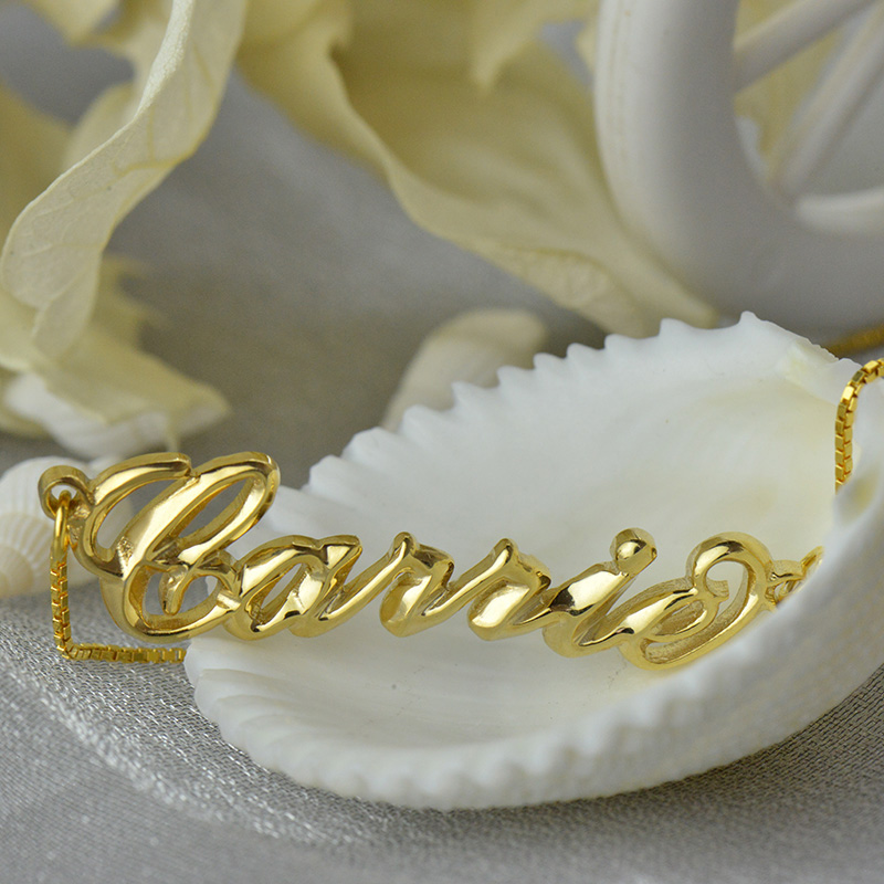Personalized 3D Carrie Name Necklace