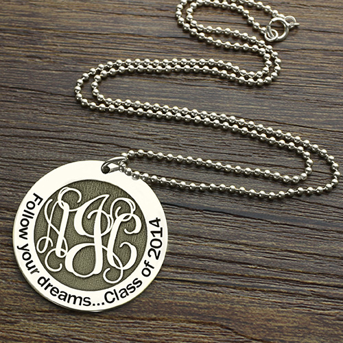 Follow Your Dreams Monogram Necklace