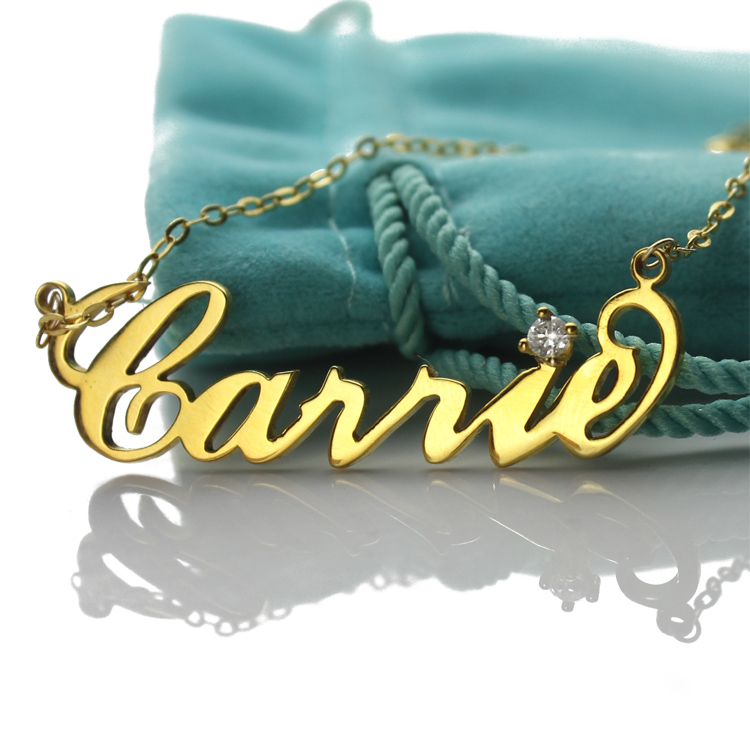 Carrie Necklace with Birthstone - 18K Gold Plated