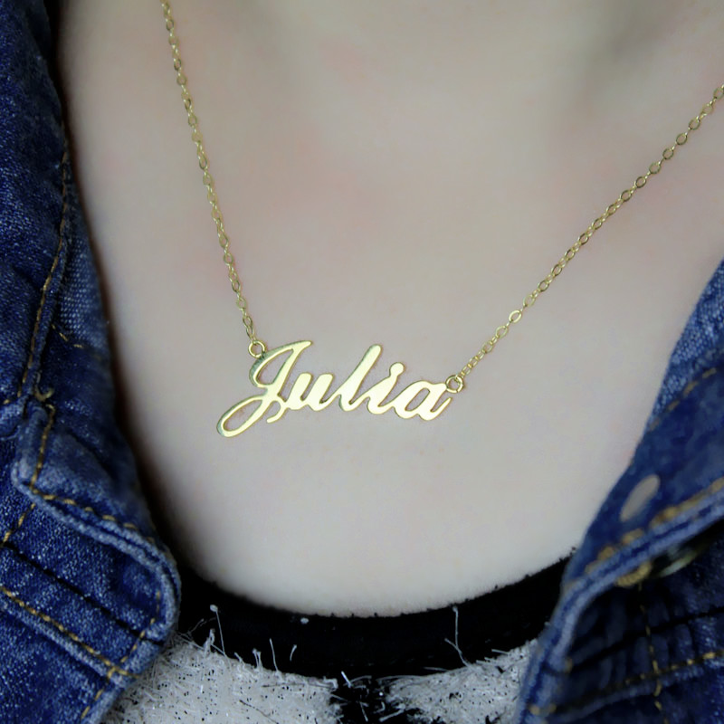 Personalized Classic Name Necklace - 18k Gold Plated