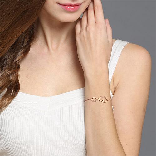 Personalized Infinity Names Bracelet