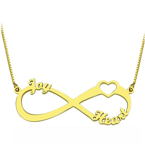 Infinity 3 Names 18K Gold Plated