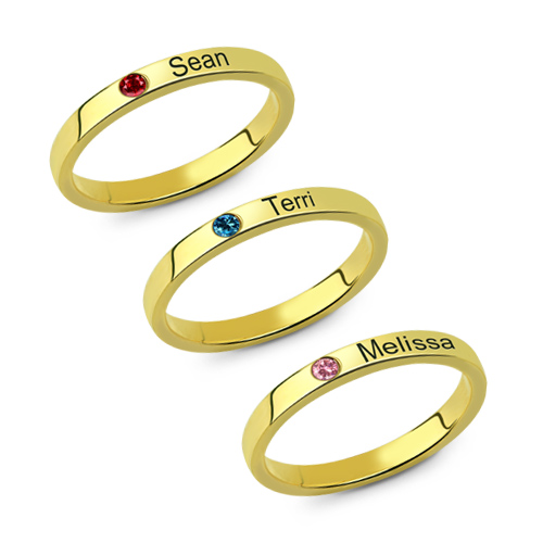 Mother's Stackable Name Ring