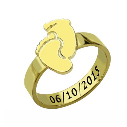 Baby Feet Ring For Mom