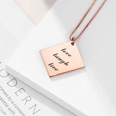 Rose Gold  Plated Nameplate Necklace