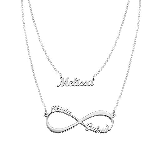 Sterling Silver Gift - Infinity and Name Necklaces