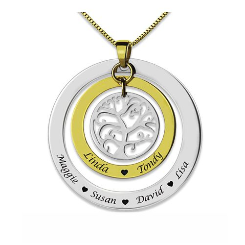Grandma Family Tree Names Necklace