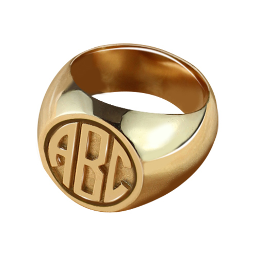 Circle Signet Ring Rose Gold