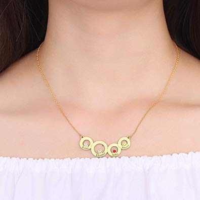 Classic Circles Necklace 18k Gold Plated