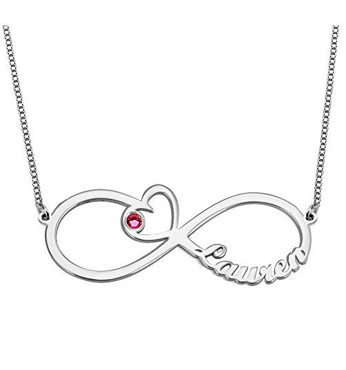 Infinity Classic Name Necklace Silver