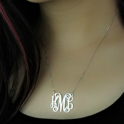 Personalized Monogram Initial Necklace
