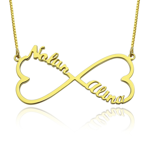 Personalized Heart Infinity Name Necklace