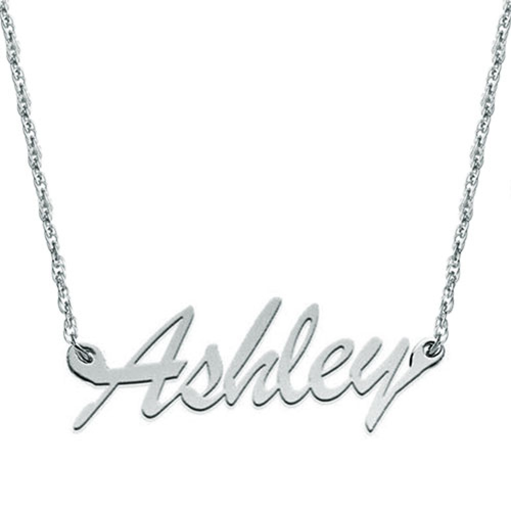 Name Necklace Sterling Silver Carrie Style