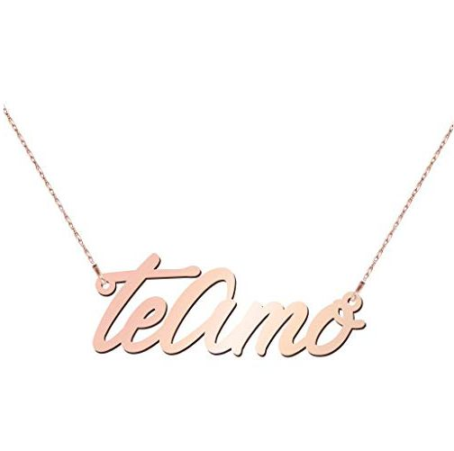 Script Name Necklace in Rose Gold